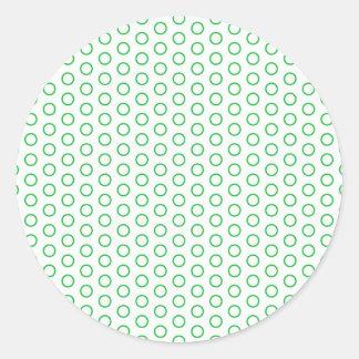 becomes green scores circles green polka dots dab round sticker
