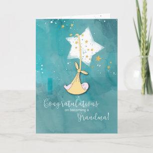 becoming a grandma congratulations baby in stars card
