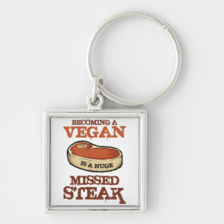 Becoming A Vegan Is A Huge Missed Steak Key Ring