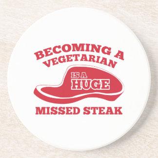 Becoming A Vegetarian Is A Huge Missed Steak Beverage Coasters