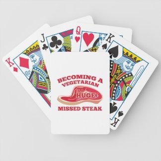 Becoming A Vegetarian Is A Huge Missed Steak Bicycle Poker Deck
