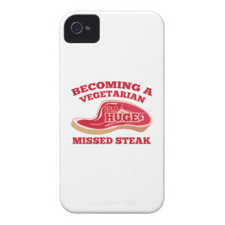 Becoming A Vegetarian Is A Huge Missed Steak Case-Mate iPhone 4 Cases
