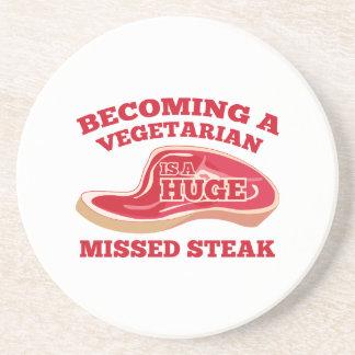 Becoming A Vegetarian Is A Huge Missed Steak Drink Coaster