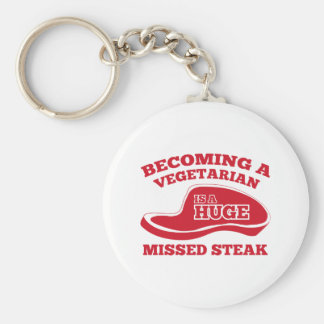 Becoming A Vegetarian Is A Huge Missed Steak Keychain