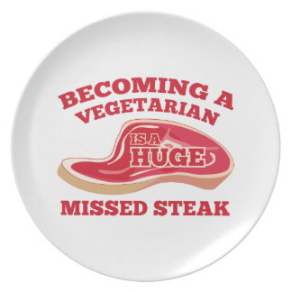 Becoming A Vegetarian Is A Huge Missed Steak Party Plate