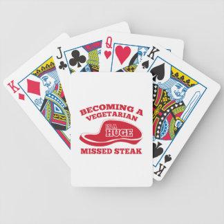Becoming A Vegetarian Is A Huge Missed Steak Poker Cards