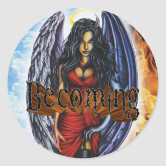 BECOMING - Angel Demon Sticker