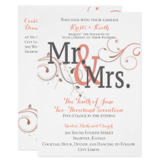 Becoming Mr. & Mrs. 5x7 Wedding Invitation