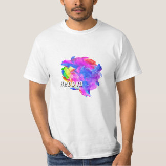 Becoya: Color Hear T shirt (white version)