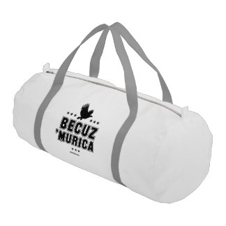 Becuz 'Murica - eagle flight Gym Duffel Bag