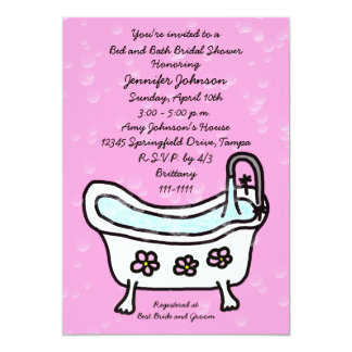 Bed and Bath Bridal Shower Invitation -- Bubbles
