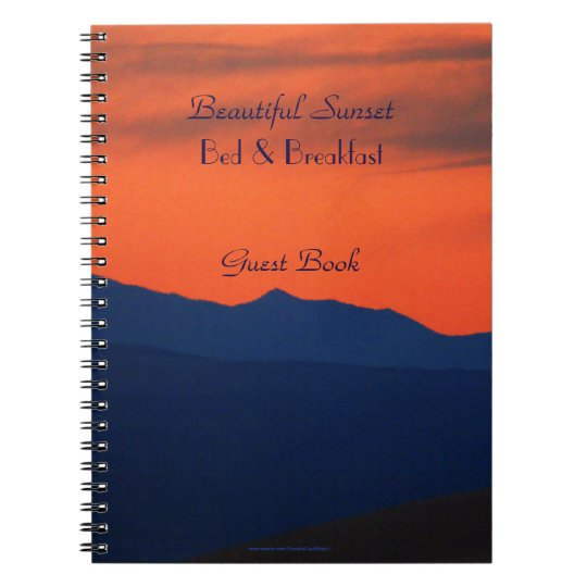 Bed & Breakfast Guest Book Red Sky at Sunset B&B