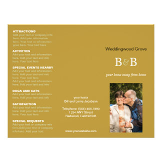 Bed Breakfast Trifold Advertise Brochure Template