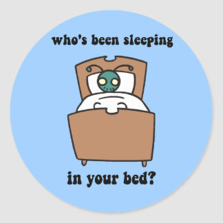 Bed bugs round sticker