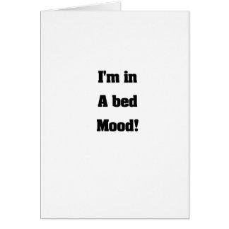Bed mood greeting card