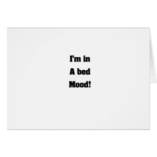 Bed mood greeting cards