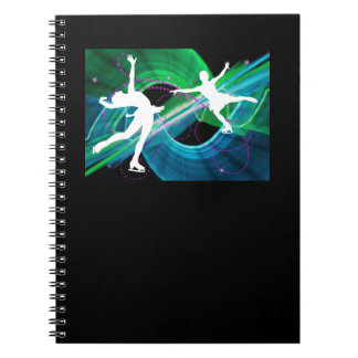 Bedazzled Figure Skaters Ice Skating Notebook