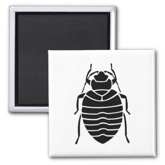 Bedbug Insect Print Square Magnet
