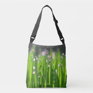 Bedewed Wheatgrass in the Morning Light Crossbody Bag