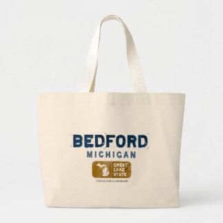 Bedford Michigan Great Lake State Canvas Bag