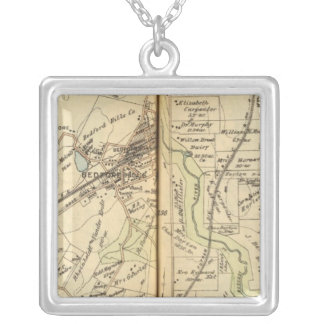 Bedford, New York 4 Silver Plated Necklace
