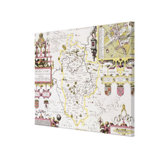 Bedfordshire and the situation of Bedford Canvas Print