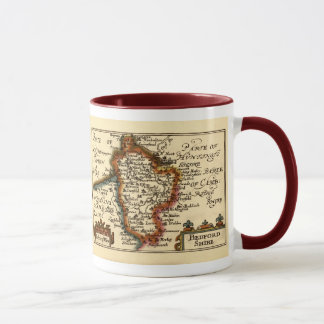 Bedfordshire County Map, England Mug