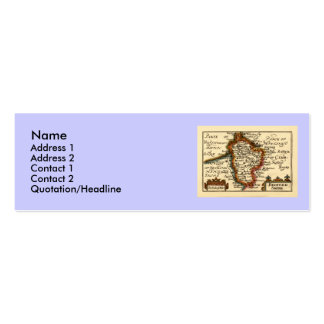 Bedfordshire County Map, England Pack Of Skinny Business Cards
