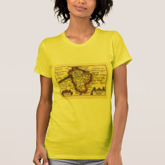 Bedfordshire County Map, England T Shirts