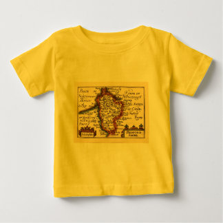 Bedfordshire County Map, England Tees