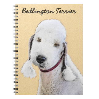 Bedlington Terrier 2 Painting - Original Dog Art Notebook