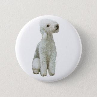 Bedlington Terrier (A) 6 Cm Round Badge