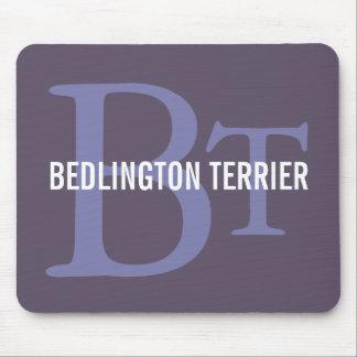 Bedlington Terrier Breed Monogram Mouse Pad