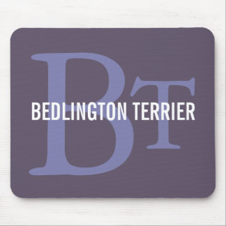 Bedlington Terrier Breed Monogram Mousepad
