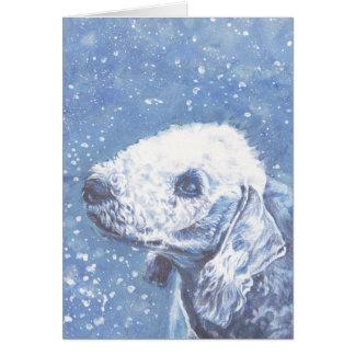 Bedlington Terrier Christmas Card
