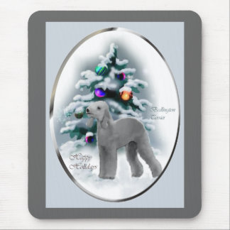 Bedlington Terrier Christmas Gifts Mouse Pad