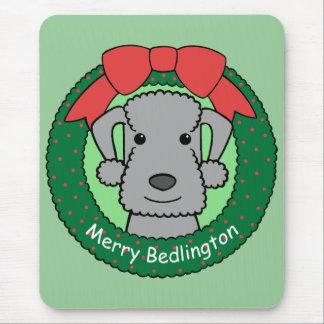 Bedlington Terrier Christmas Mouse Pad