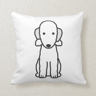 Bedlington Terrier Dog Cartoon Cushion