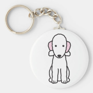 Bedlington Terrier Dog Cartoon Key Ring