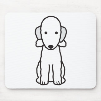 Bedlington Terrier Dog Cartoon Mouse Mat
