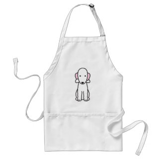 Bedlington Terrier Dog Cartoon Standard Apron