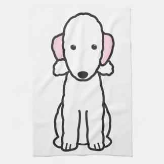 Bedlington Terrier Dog Cartoon Tea Towel