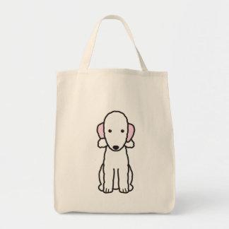 Bedlington Terrier Dog Cartoon Tote Bag