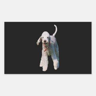 Bedlington Terrier dog cute beautiful photo Rectangular Sticker