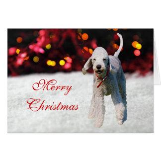 Bedlington Terrier dog cute custom Christmas Card