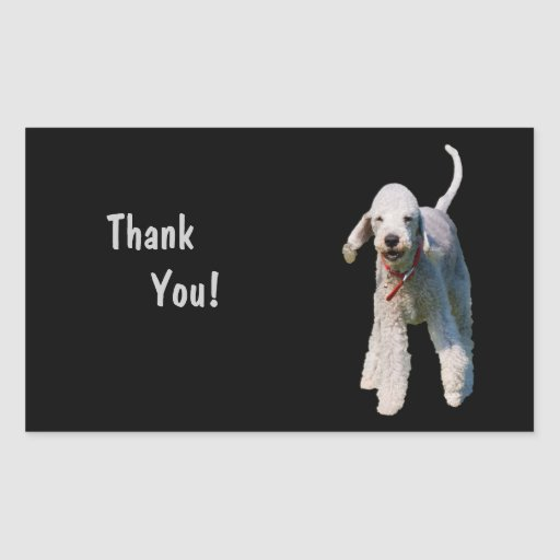 Bedlington Terrier dog cute thank you Stickers