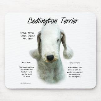Bedlington Terrier History Design Mouse Pad