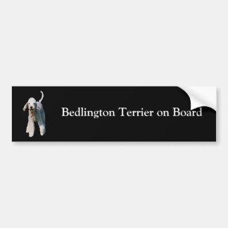 Bedlington Terrier on board custom bumper sticker