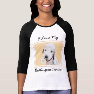 Bedlington Terrier Painting - Cute Original Dog Ar T-Shirt