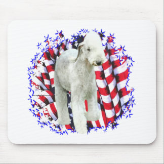 Bedlington Terrier Patriot Mouse Pad
